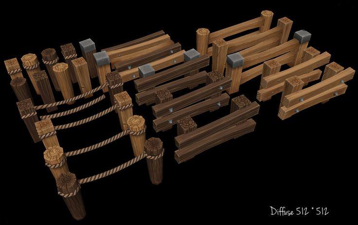 Wooden Fence asset by ~Jimpaw on deviantART