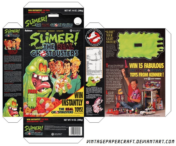 Image detail for -the real ghostbusters cereal box ...