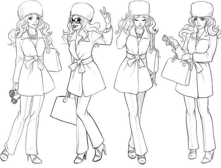 Character Design Life Drawing Pdf : Best images about coloriage city girl life on pinterest