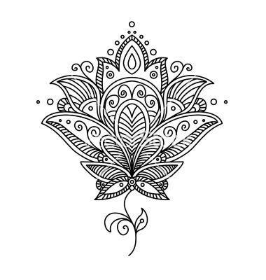 Tribal Lotus Flower Tattoo On Foot