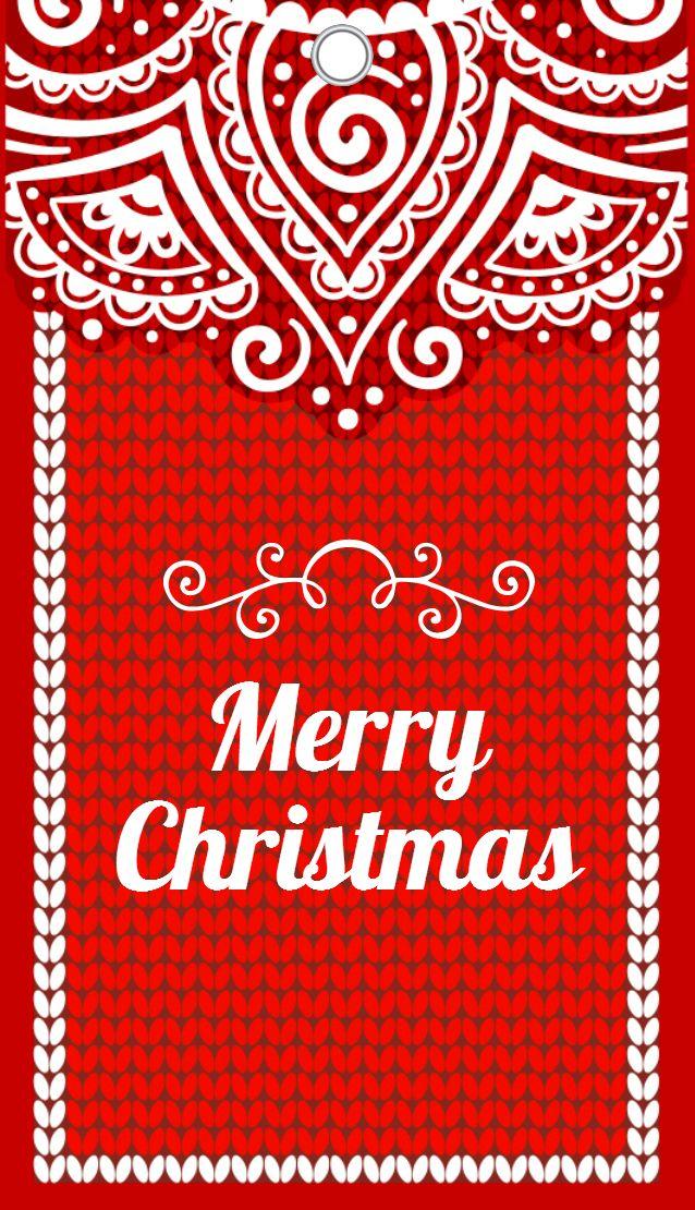 "Free Tag ""Merry Christmas"" from Cardolini.ru"