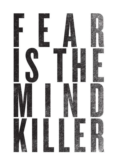 Fear is the Greatest Enemy of Man