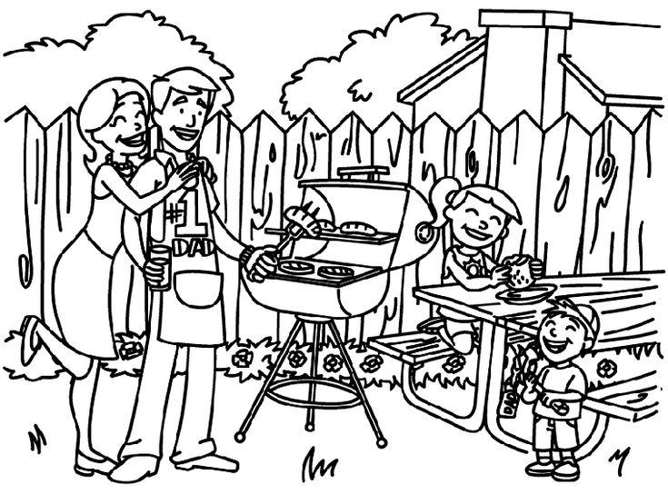 Рисунок выходные с семьей карандашом