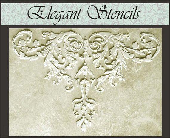 Ausgelöst Pflaster Schablone Laureli Schablone von ElegantStencils