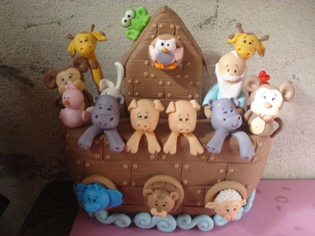 Topo de bolo.Arca de Noé.