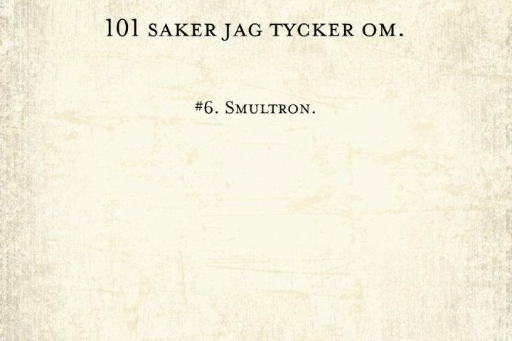 #6, smultron.
