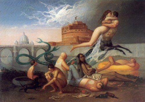 Riccardo Tommasi Ferroni  Non son Geni mentiti  1996 Tempera grassa su tela 50 x 70 (studio)