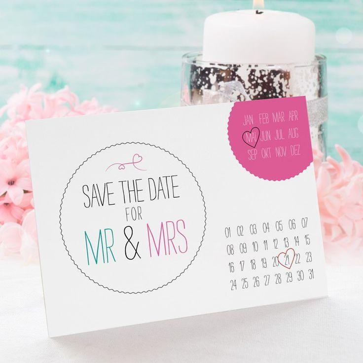 #SaveTheDate Karte #Hochzeit Calendario: https://www.meine-hochzeitsdeko.de/save-the-date-karte-hochzeit-calendario