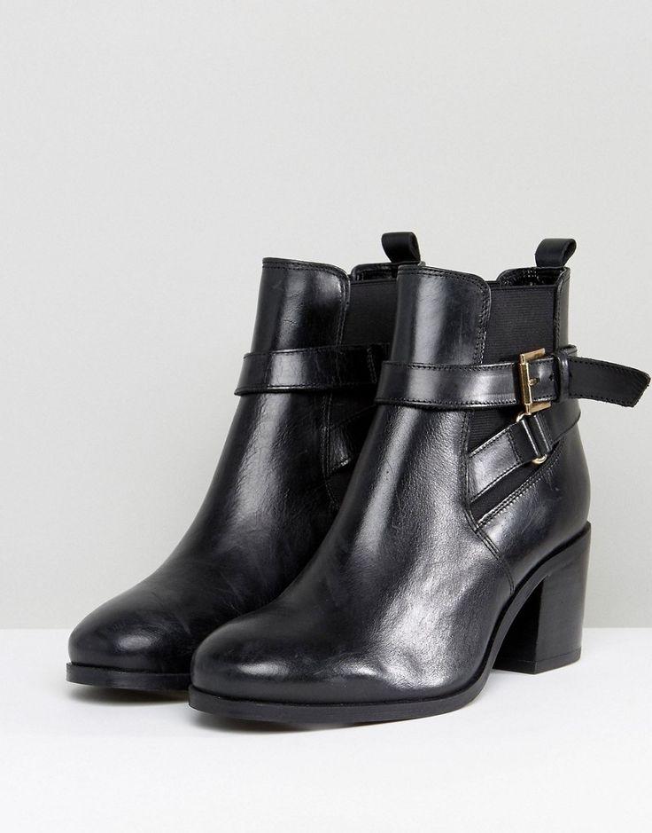 Carvela Heeled Buckle Strap Boot - Black
