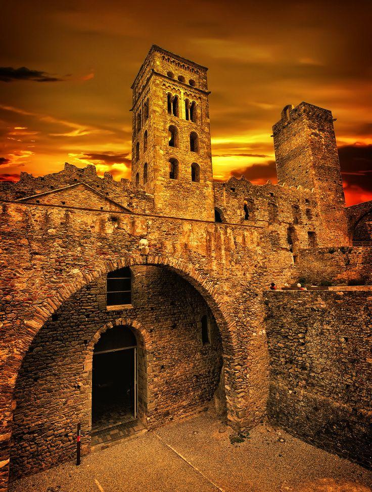 Sant Pere de Rodes in Catalonia Spain  via