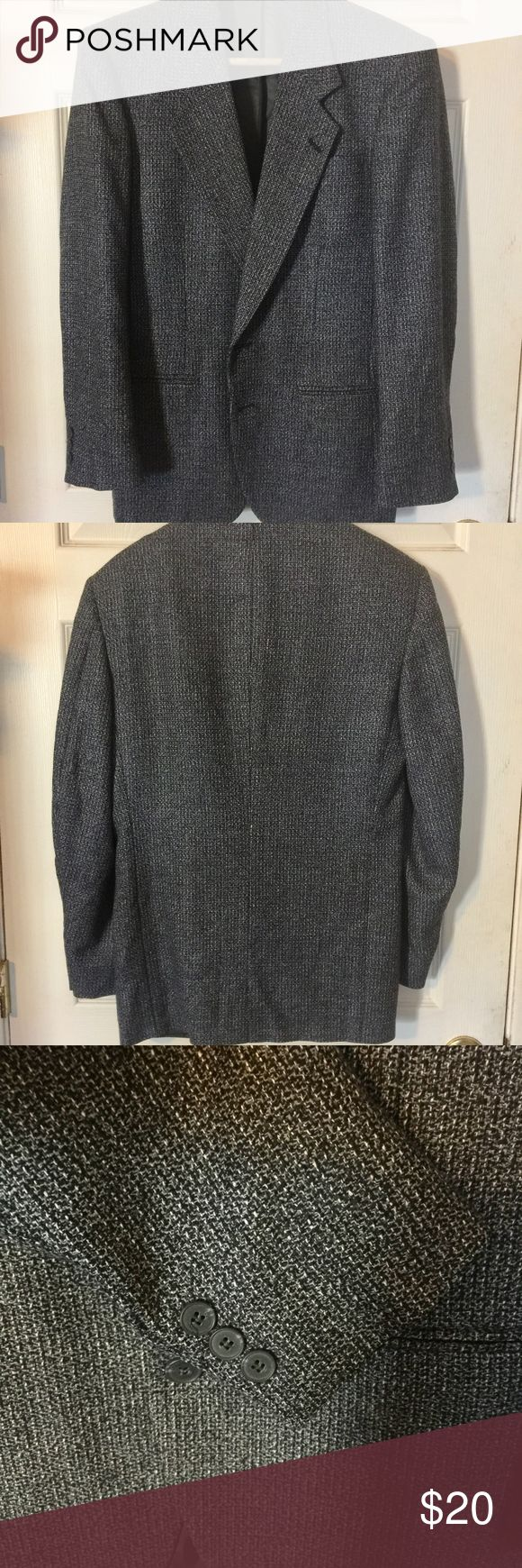 """Nino Cerruti Wool Sports Coat Blazer Jacket Nino Cerruti Rue Royale Men's Gray/Black Wool Sports Coat Blazer Jacket in excellent used condition.  Please note there is no tag stating size so check measurements for fit.    Shoulder (Shoulder to Shoulder) 18.5"""" Pit to Pit(Across Chest):20.5"""" Sleeve(Top of Shoulder to Cuff):24"""" Length(Top of Collar to Hem): 31"""" Nino Cerruti Suits & Blazers Sport Coats & Blazers"""