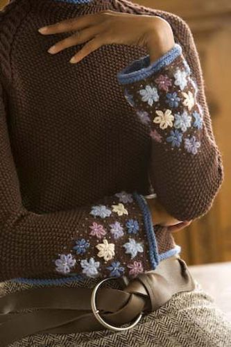 Ravelry: Frost Flower Cuff Pullover pattern by Michele Rose Orne
