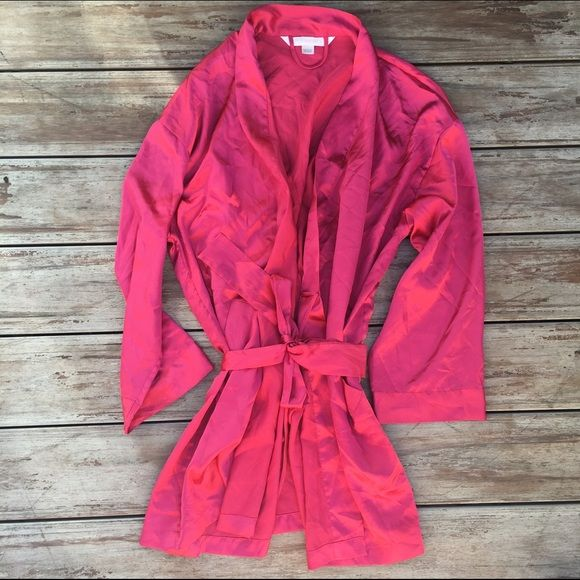 Hot Pink Silk Robe from Victoria's Secret Excellent condition. Worn once. No stains or rips. Ships immediately! No trades at this time ❤️ Victoria's Secret Intimates & Sleepwear Robes