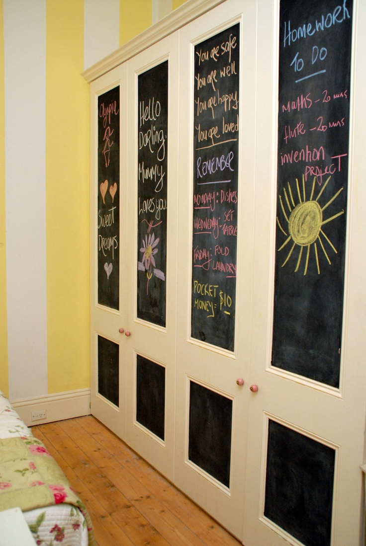 i think chalkboard paint in a childs room is just the most perfect thing this
