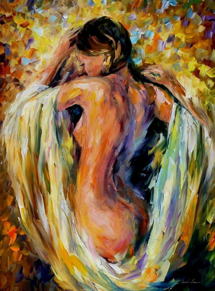 leonid afremov pintura tinta oleo espatula The