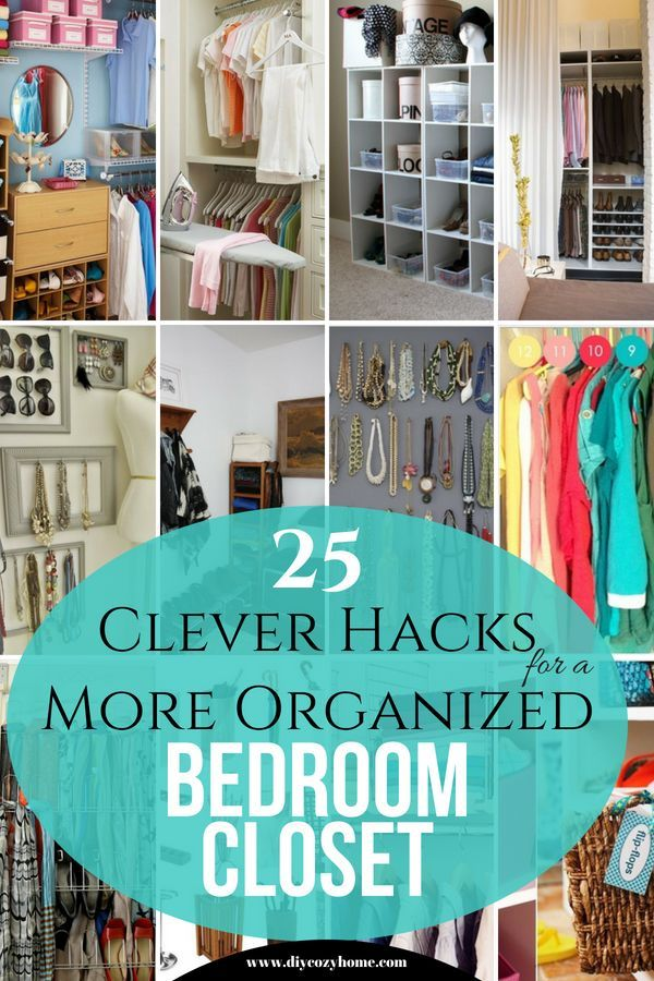 These 25 Clever Hacks For A More Organized Bedroom Closet