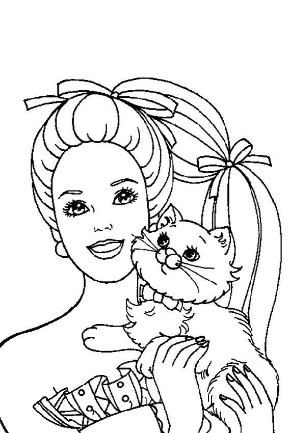 1000 ideas about Barbie Coloring