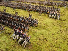 Here the next photos from Arndt. This time a Brigade of Cuirassiers. The figures are all Zvedza with a mix of Art-Miniaturen specials   Real...