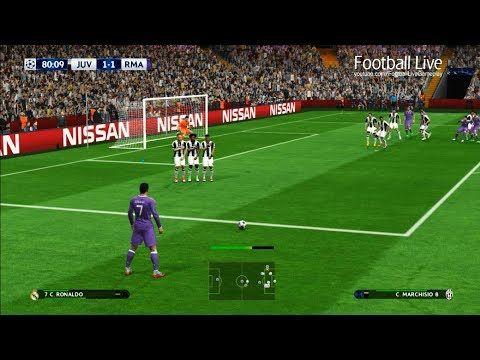 (46) PES 2017 | Juventus vs Real Madrid | 2 Free Kick Goal C.Ronaldo | Final UEFA Champions League (UCL) - YouTube