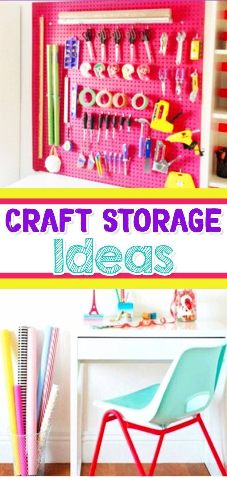 craft storage ideas for craft supplies, wrapping supplies, arts and