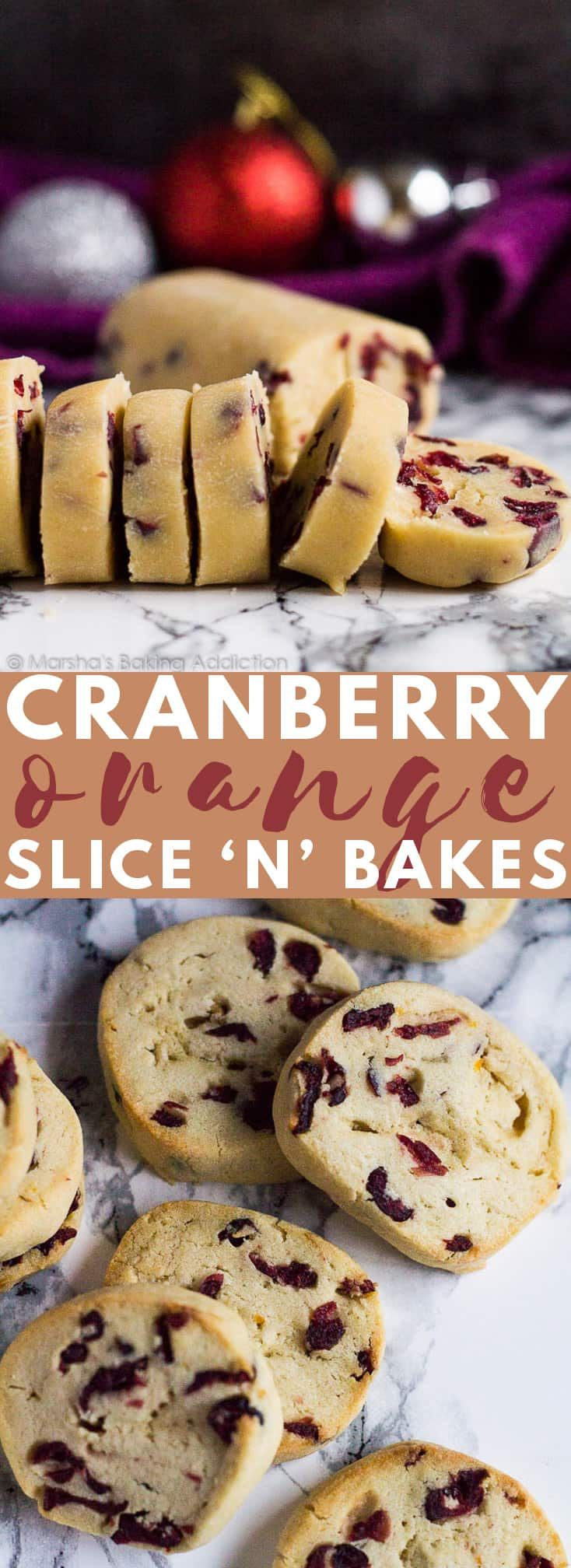 Cranberry Orange Slice 'n' Bake Cookies – Delicio…