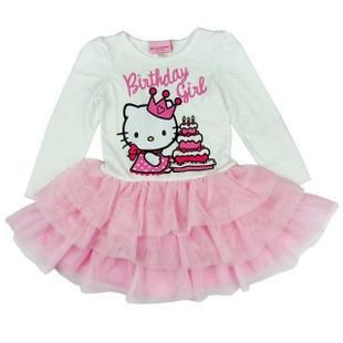 Дети / дети / девочки hello kitty длинный рукав пачка платье, Дети платье ( : 1 пк )