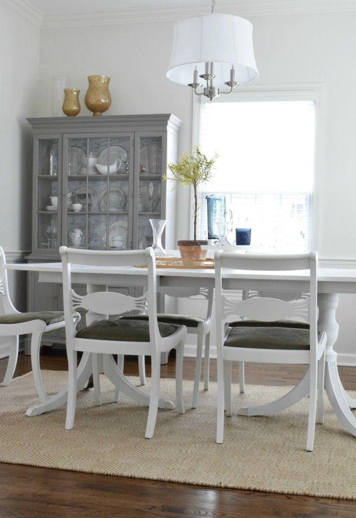 How I used Mud Paint and Chalk Paint to paint a 100 year old antique dining table  - Nesting With Grace