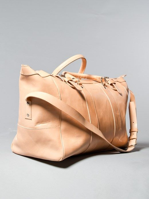 Jon Weekendbag Leather Natural - Nudie Jeans Co Online Shop