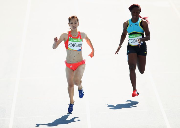 Heres Why Japans Chisato Fukushima Wore Patches While Running In Rio GettyImages 589706520 image #陸上 #福島千里 #リオ五輪 #オリンピック