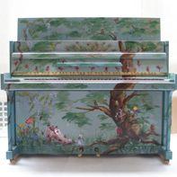 Bespoke painted pianos at Jaques Samuel Pianos, London UK