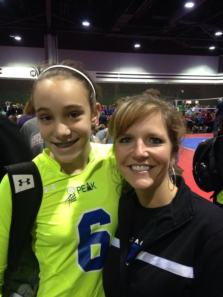 18. Take a picture with your coach at the event.  Thanks coach Jackie! By Lauren Hall - who now qualifies for the grand prize!: Picture, Usa Volleyball, Volleyball Pin, Grand Prize, Lauren Hall, Coach Jackie