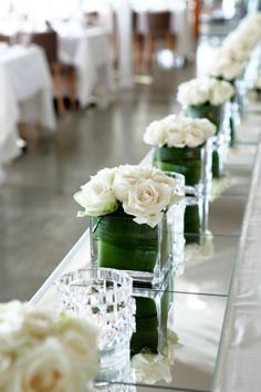 diy wedding table white flowers - Google Search