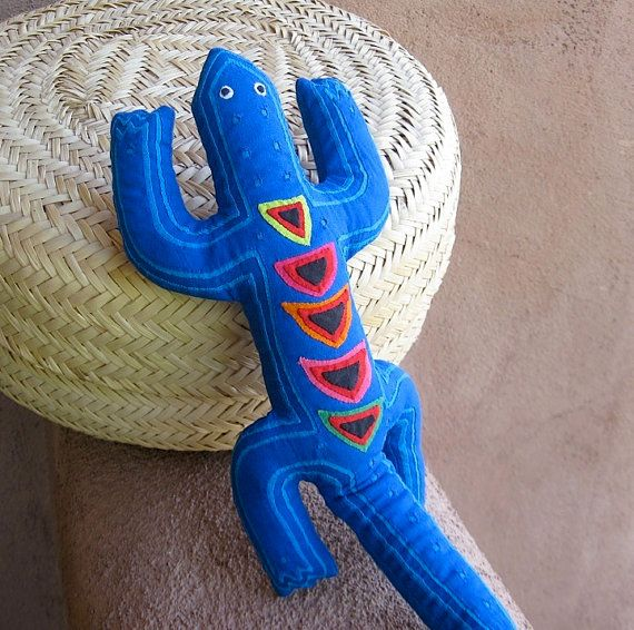 Blue on Blue Mola Lizard - ON SALE by - molamama, $36.50