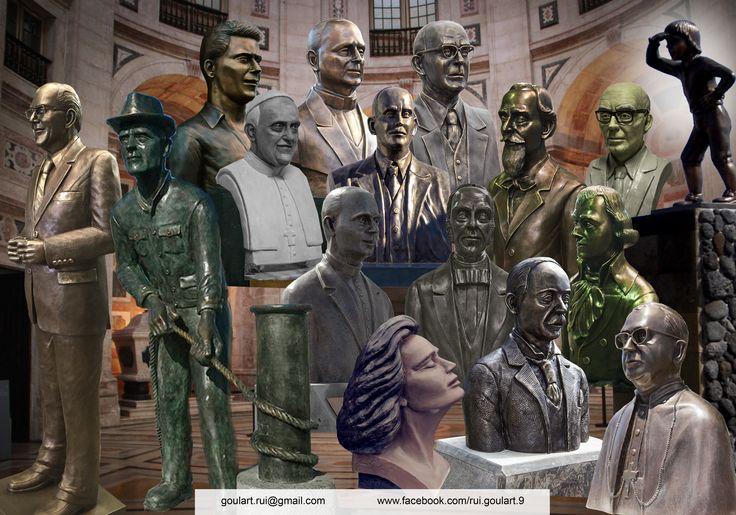 Estátuas e bustos… Escultor: Rui Goulart