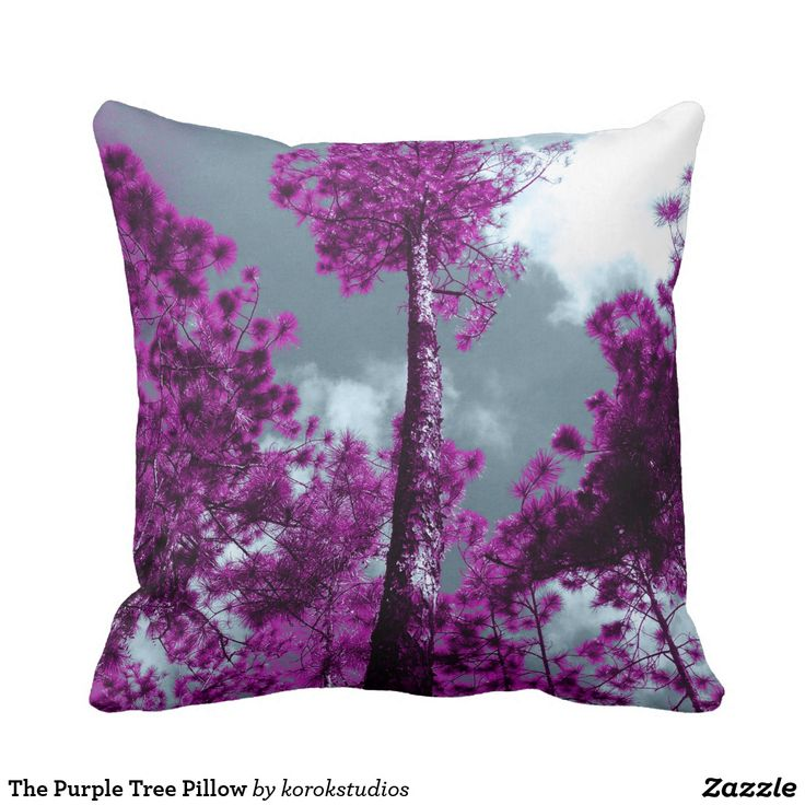 The Purple Tree Pillow