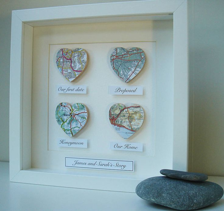 Personalised Map Hearts Story Picture from notonthehighstreet.com