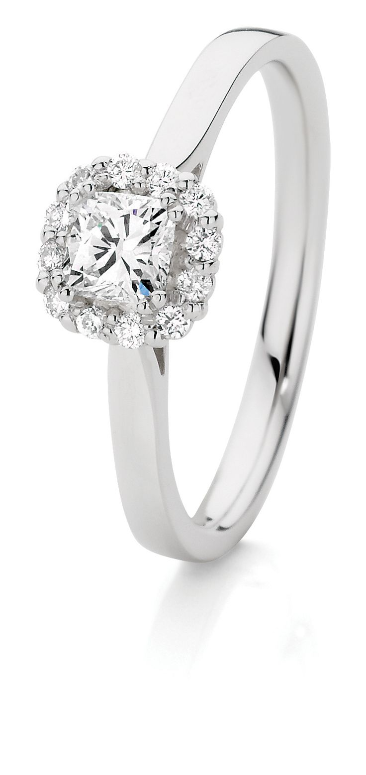 0.42ct TDW Engagment Ring in 18ct White Gold $2799