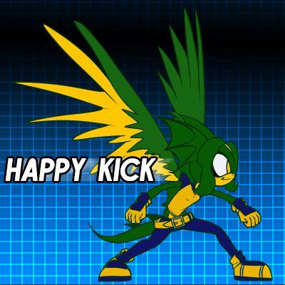happy kick