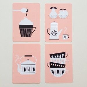kitchen cards (set of four) by zu at Violet and Percy.