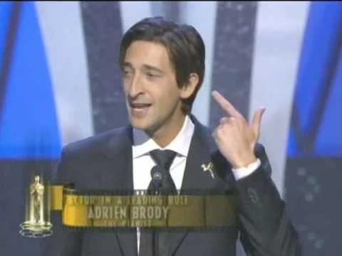 Adrien Brody Wins Best Actor: 2003 Oscars - YouTube