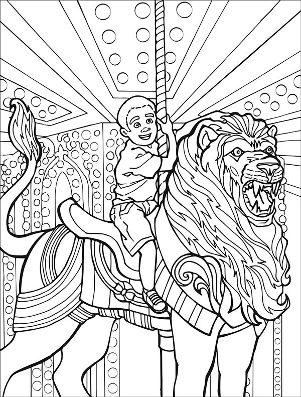 carousel coloring pages by anthony kuhlmann via behance
