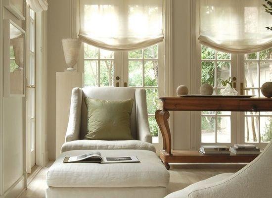 Sheer Linen Relaxed Roman Shade Interiors Pinterest