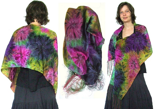 hand painted silk scarf 10