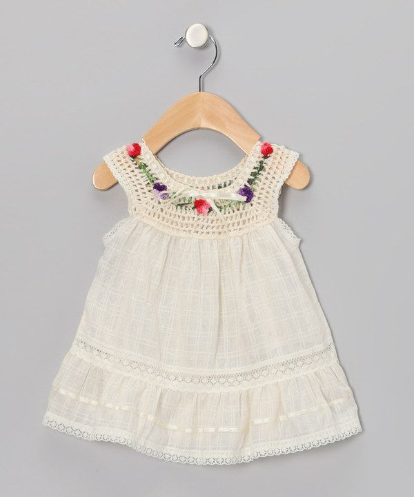 "Take a look at this Natural Lucila Yoke Dress  - Infant, Toddler & Girls on zulily today! [   ""Little Cotton Dress Natural Lucila Yoke Dress - Infant, Toddler & Girls"",   ""Take a look at this Natural Lucila Yoke Dress - Infant, Toddler & Girls on zulily today!"",   ""So cute for my Eleanor"",   ""something special every day"" ] #<br/> # #Crochet #Toddler,<br/> # #Infant #Dresses,<br/> # #Baby #Dress,<br/> # #The #Dress,<br/> # #Toddler #Fashion,<br/> # #Infant #Toddler,<br/> # #Toddler…"