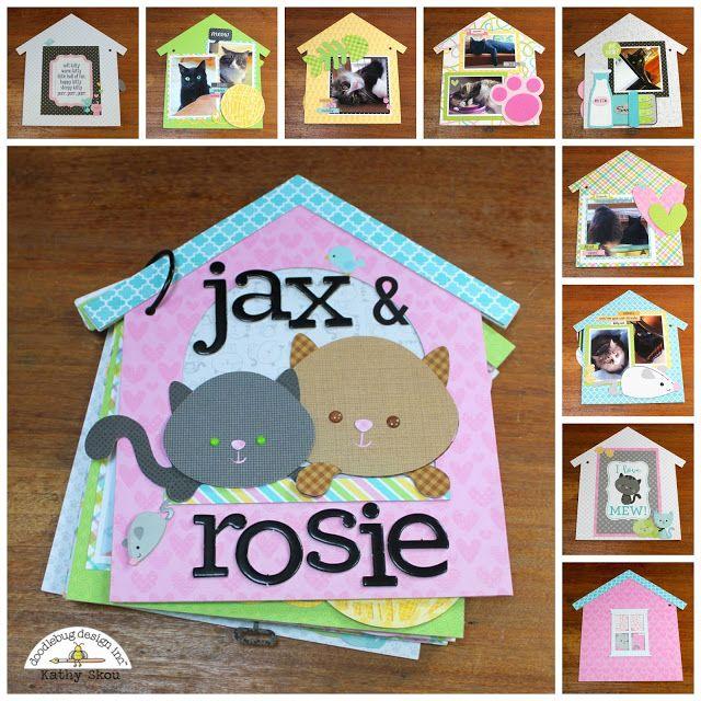 Doodlebug Design Inc Blog: 12/5 NEW!! Kitten Smitten Cut Files: Mini Album with Kathy