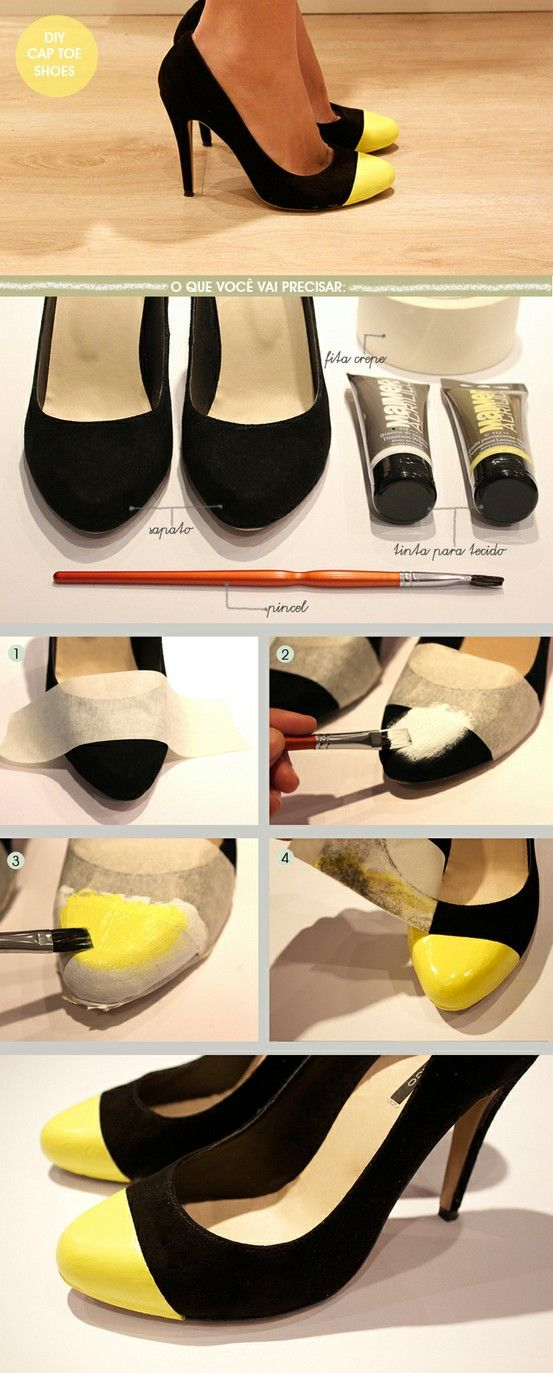 Cool use for old, scuffed up heels: Diy Ideas, Head Of Garlic, Diy Fashion, Diy'S, Black Heels, Diyfashion, Old Shoes, Cap Increase, Toe Shoes