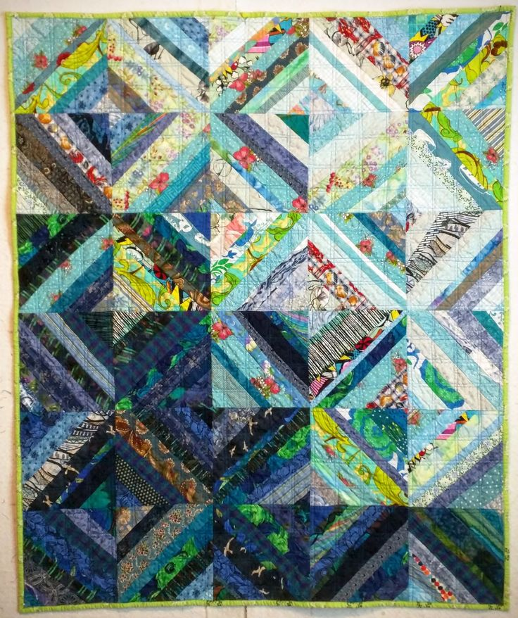 Blue String quilt by Ann at Fret Not Yourself