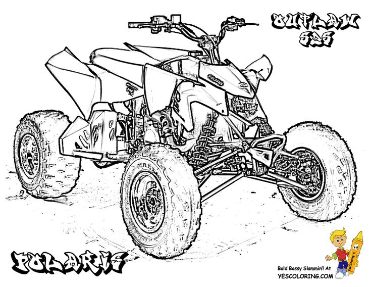 Four Wheeler Coloring Pages Coloring pages, Free