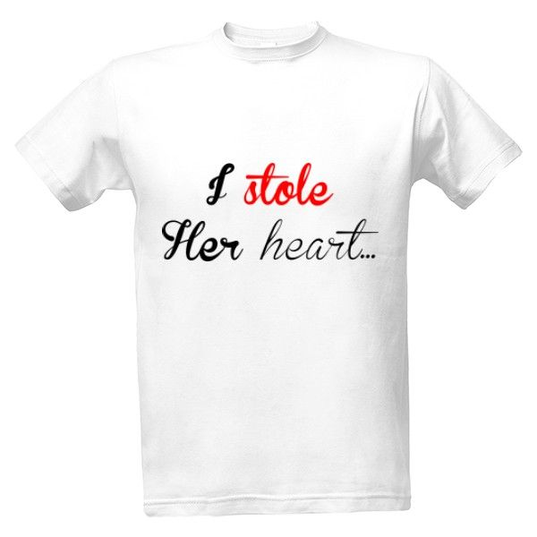 Tričko s potiskem ukradl ji srdce