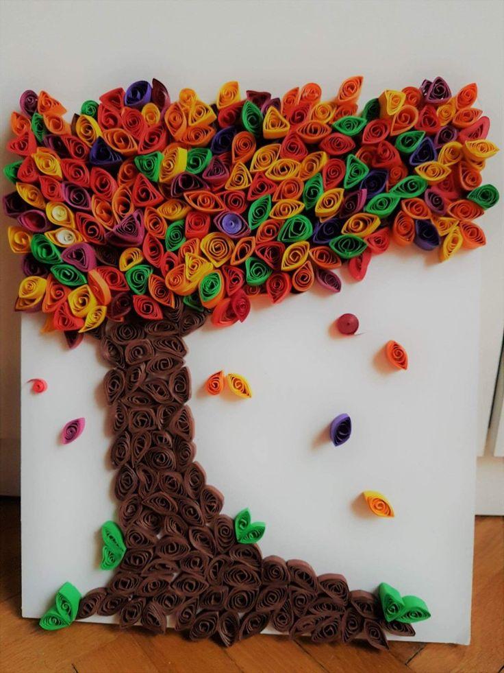 quilling autumn tree
